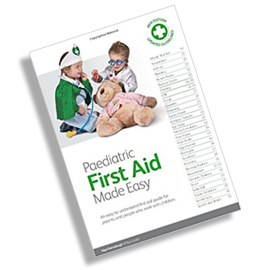 Free Paediatric First Aid Manual for all delegates attending this course