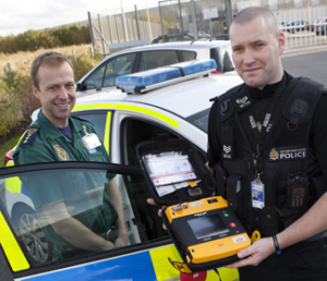 Emergency services now carry Automated External Defibrillator